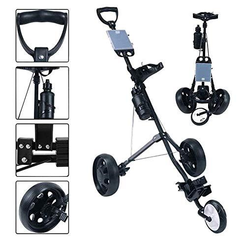 3 ruedas Golf Push Cart, carrito de golf Carro de golf 3...