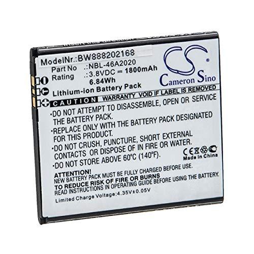 vhbw Akku Ersatz für TP-Link/Neffos NBL-46A2020 für Handy Smartphone Handy (1800mAh, 3,8V, Li-Ion)