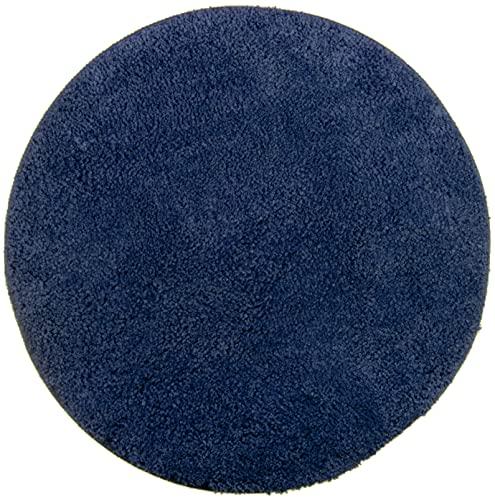 Brandsseller Tapis de Bain en Chenille Différentes Tailles et Couleurs, Coton, Bleu, Ø 60 cm