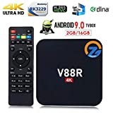 ZAMPEQ V88R 4K Android TV Box with 2GB RAM/16GB ROM 64Bit Quad Core