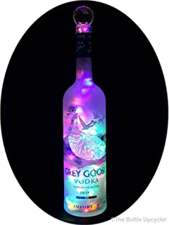 vodka bottle with led message