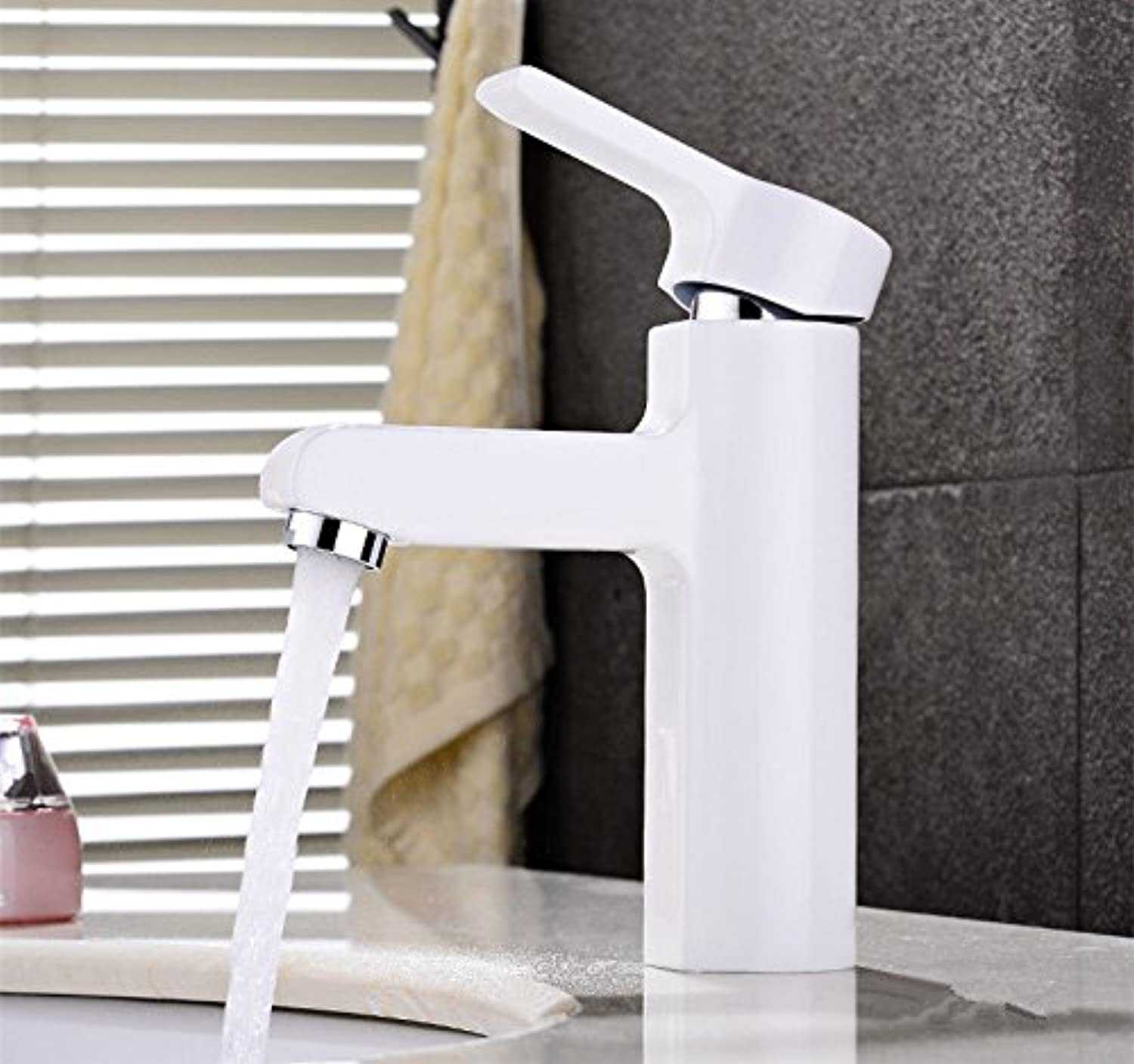Hlluya Professional Sink Mixer Tap Kitchen Faucet The copper cold water faucet washbasin white
