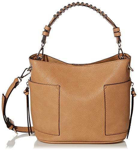 Steve Madden womens Bucket Bag, Camel, 9 L x 8 H 5 W US