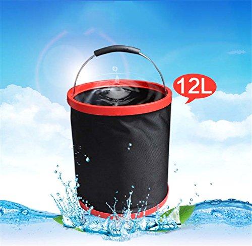 l'eau De Seau Se Pliant S'ajustent dans Le Camping, La Pêche, La Plage, L'usage À La Maison, Sports Extérieurs, Lavage De Voiture, Capacité De 12L