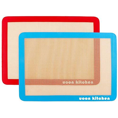 UOON Silicone Baking Mat Sheet Set/Tray Liner Sheet Set (2) Half...