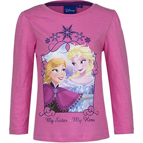 Frozen Die Eiskönigin Mädchen Langarmshirt   Kinder Langarm Pullover 128 / ros