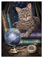 XIAO-XIN DIYダイヤモンド絵画猫フルスクエアダイヤモンド刺繍猫ラインストーンクロスステッチダイヤモンドモザイク手仕事家の装飾(45×60)cm (Color : 1430)