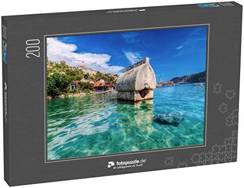 fotopuzzle.de Puzzle 200 Teile Kalekoy-Ansicht im Golf von Kekova. Kekova ist EIN beliebtes Reiseziel in der Türkei