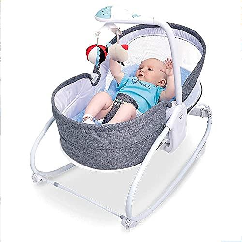NYCUABT Cuna del Lado de la Cama del bebé de la Cuna de la Cuna del bebé del bebé eléctrico del bebé con el Modo de Cuna para Babys recién Nacidos BAJERSET (Color: Rojo) (Color : Gray)