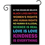 Allenjoy in This House We Believe Garden Flag for Outside Mailbox Vertical Black Lives Mat...