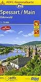 ADFC-Regionalkarte Spessart/Main/Odenwald, 1:75.000, reiß- und wetterfest, GPS-Tracks Download (ADFC-Regionalkarte 1:75000)