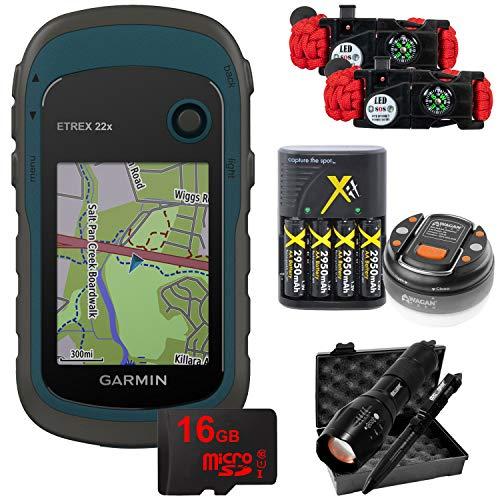 Garmin eTrex 22x: Rugged Handheld GPS with 16GB Camping & Hiking Bundle 010-02256-00