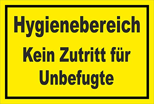 Melis Folienwerkstatt Schild Hygienebereich - 15x10cm - 3mm Aluverbund – 20 VAR S00225-005-C