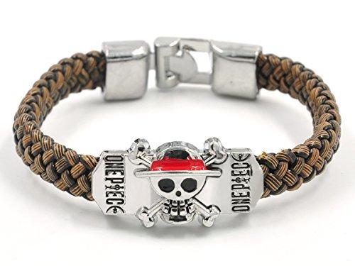 CoolChange One P. Armband geflochten mit Jolly Roger der Strohhut Bande
