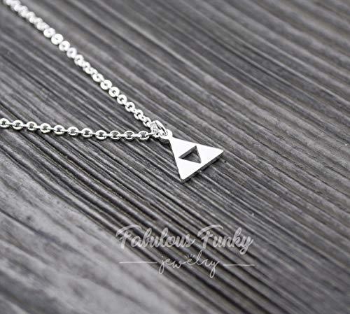 Geometrische Dreieck Kette - Silberfarben