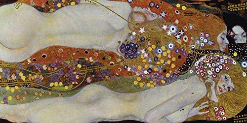 Artland Alte Meister Premium Wandbild Gustav Klimt Bilder Poster 30 x 60 cm Wasserschlangen II Die Fre&innen Kunstdruck Wandposter Art Nouveau und Jugendstil B5MK