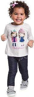 Blusa Infantil Menina Manga Longa Best Friends
