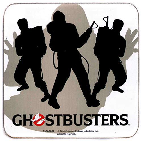 Pyramid International Ghostbusters (Silhouettes) Officielle Boissons Coaster-Protective Mélamine Coque avec Base en liège, 10 x 10 cm, Bois, Multicolore, 10 x 10 x 1.3 cm