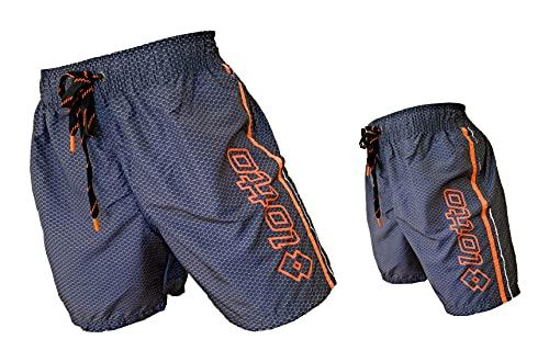 Lotto Costume Uomo Boxer Mare Pantaloncini da Bagno (48427 Black, L)