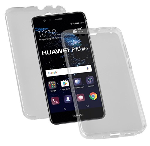 yayago beschermhoes voor Huawei P10 Lite / P10 Lite Dual Full Cover Case Tas 3D Transparant