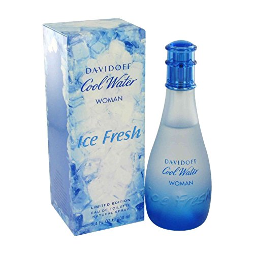 Davidoff Cool Water Ice Fresh Limited Edition for Women Eau-de-Toilette Spray, 3.4-Ounce