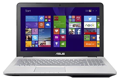 Asus N551JX-CN289H 39,6 cm (15,6 Zoll) Laptop (Intel Core i5 4200H, 8GB RAM, 1TB HDD, 24GB SSD, NVIDIA GF GTX 950M, Win 8.1) silber