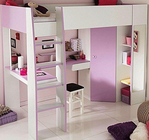 Parisot 2248lsur Set Möbel Kinderzimmer–Mademoiselle weiß megev Holz