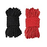 32 feet 8mm(1/3inch) Diameter Soft Silk Rope Solid Braided Twisted Ropes,10m Durable and Strong All Purpose Twine Cord Rope String Thread Shiny Cord