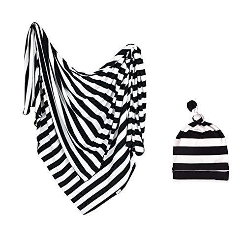 Petyoung Neugeborene Erhalten Decke Stirnband Set Babys Wickel Erhalten Decken für Mädchen Jungen
