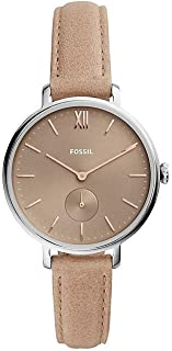 FOSSIL Womens Quartz Watch, Analog Display and Leather Strap ES4664
