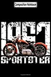 Composition Notebook: 1957 Sportster Biker Motorcycles Notebook
