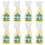 Frosch Bio-Spiritus Multiflächen-Reiniger, für streifenfreien Glanz, Sprühflasche, 8er Pack (8 x 500 ml)