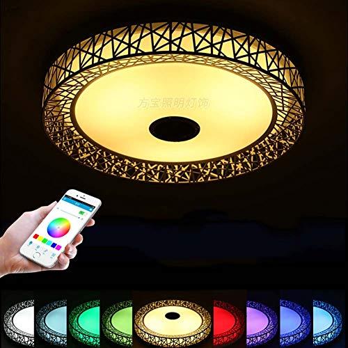 WFL-belysning LED-taklampa med Bluetooth-högtalare, RGB färgskiftande infälld montering musik taklampsfixtur, 36 W, 85-265 V, dimbara infällda nedljus, timer/justerbar temperatur WFL Prof