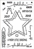 先の尖った星透明クリアシリコンスタンプ/DIYスクラップブッキング/ poアルバム用シール装飾クリアスタンプG809