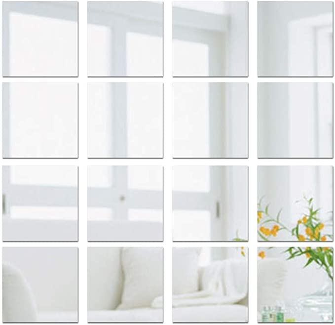 742 opinioni per JNCH (15 * 15cm) 16pz Adesivo Specchio Quadrato Decorazione per Parete Muro Casa