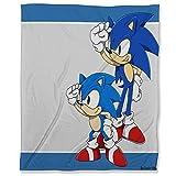 ARYAGO - Manta de felpa de terciopelo, 180 x 230 cm, Sonic The Hedgehog para dormitorio con sofá cama, super Sonic