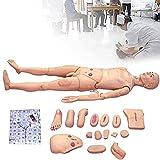 Maniqui Practicas Enfermeria PVC Maniquí Anatómico con Simulación de Módulos de Heridas Viscerales y Reemplazables y Bolsa de Almacenamiento para Enfermería Médico Formación Enseñando