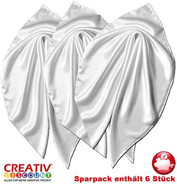 Creative Discount Seiden-Tuch Sparpack, 110x110 cm, 6 Stück B07JM8S14M | Garantiere Qualität und Quantität