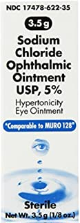 Akorn Sodium Chloride Ophthalmic Ointment, 3.5 g Each (Pack of 4)