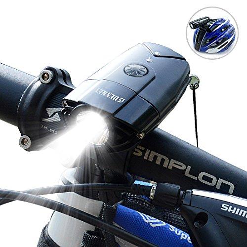 SHENKEY LED自転車ライト 2000mah 1200ルーメン USB充電 IP65防水 軽量 B01M9EHCL0 1枚目