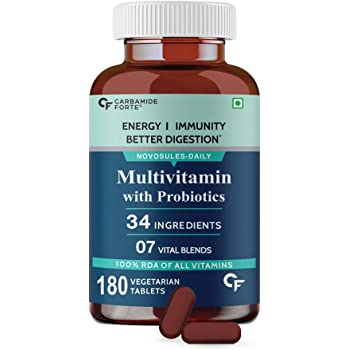 Carbamide Forte Multivitamin for Men & Women with 34 Ingredients - 180 Tablets