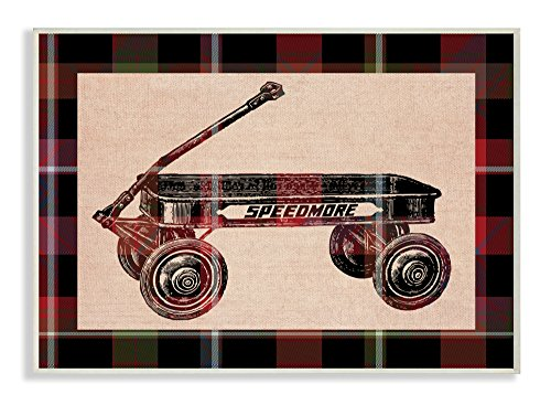 Stupell Industrias Radio Flyer – Placa de la Pared, 10 x 0,5 x 15, Fabricado en Estados Unidos