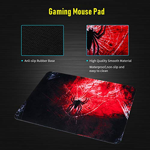 RGB Gaming Keyboard and Mouse Combo, CHONCHOW Compact 104 Keys Backlit Computer Keyboard with Gaming Mouse, USB Wired Set for PC PS4 Xbox Laptop