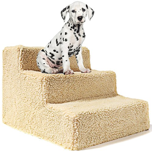 Animals Favorite- Escalier 3 marches pour animaux domestiques - Rampe portable pour chiens jusqu'à 9kg