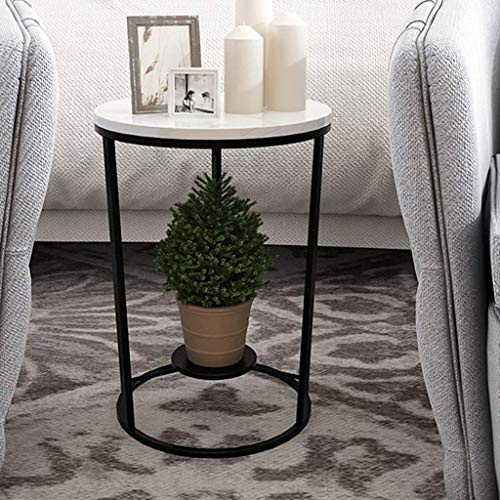 FCXBQ Tische Home D & Eacute; COR Möbel Beistelltisch mit 2 Regalen, 30/40/50 x 55 cm, Wohnzimmer oder Wohnzimmer aus Marmor/Metall