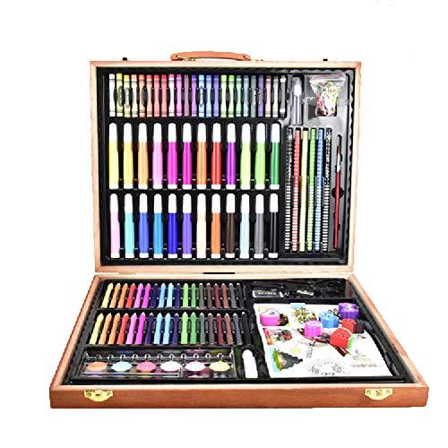 CHYK Luxury Art Set 188 hölzernen Kasten-Qualitäts-Malset Geschenke für Kinder Anfänger Profis und Künstler,188pcs