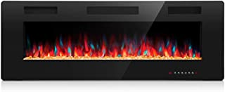 Kismile 50″ Electric Fireplace Recessed and Wall Mounted
