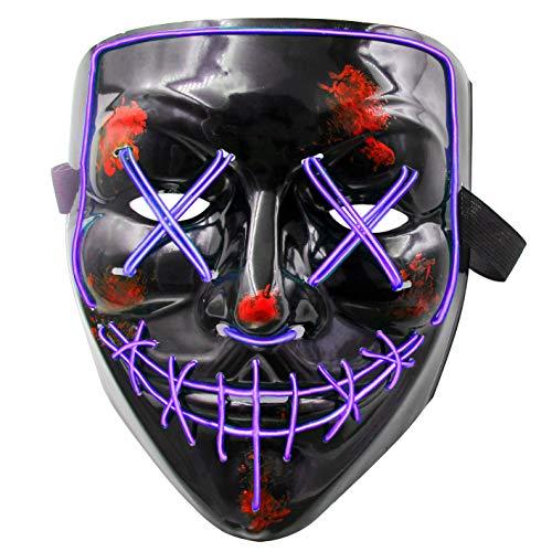 heytech LED Mask Halloween Scary Mask Cosplay...