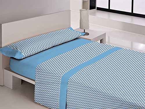 Libela Bambu Juegos sabanas, 100% Poliéster, Azul, 135 Cm, 3
