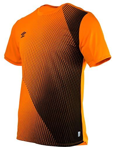 Umbro SILO Training Velocita Graphic tee Camiseta Deporte, Naranja (Turmeric/Black Grn), XX-Large (Tamaño del Fabricante:2XL) para Hombre